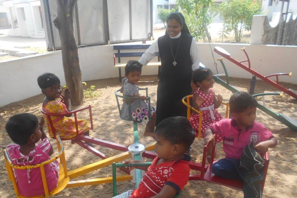 Children in Creche at Tiruvannamalai