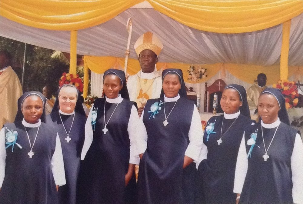 Final Profession Group with the Bishop and Sr Kathy