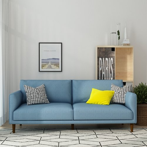 Queenshome Modern Upholstery fabric Furniture sofa for Living room ...