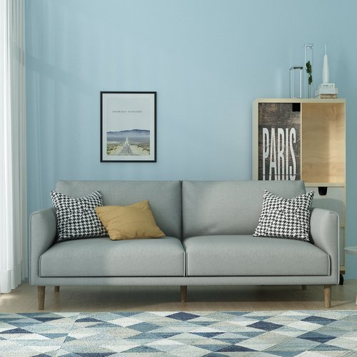 Queenshome Wooden simple sofa set designs cheap fabric sofa loveseat ...