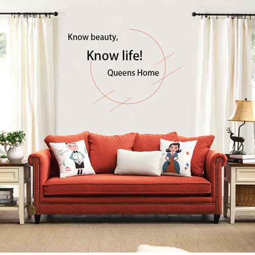 Queenshome Home furniture factory low MOQ red tufted sofa, living ...