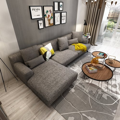 Queenshome High quality modern American style sofa fabric living ...