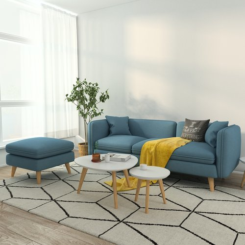 Queenshome Modern Upholstery fabric Bright-colored bamboo design ...
