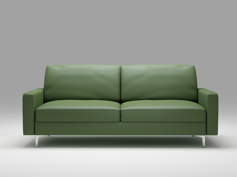 Queenshome contemporary buy shop dark green small modern leather ...