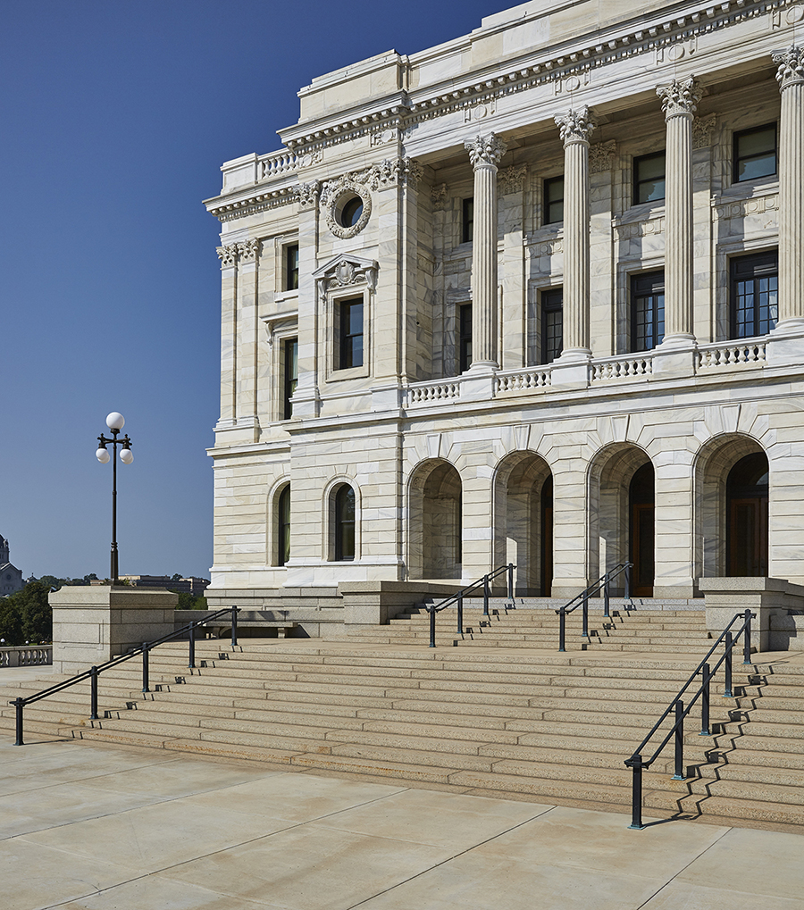 Bauer Metal Minnesota State Capitol Wrought Iron On-Site Welding Historic Preservation Restoriation Architectural Fabrication Minnesota Twin Cities Metalwork Luxury Railings Stairs Wrought Iron Fabricator Welding Twin Cities MN2.jpg