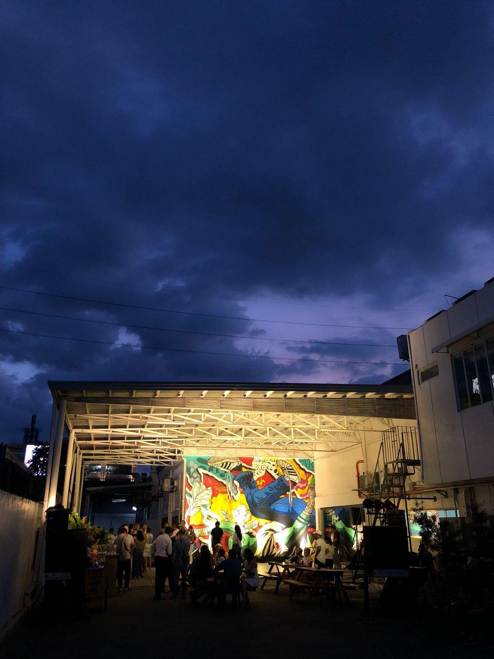 BARADO Opening, April 21, Mural by Jappy Agoncillo.JPG