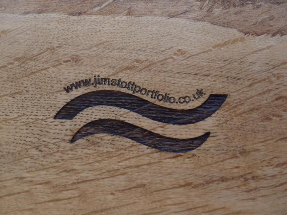 Engraved logo