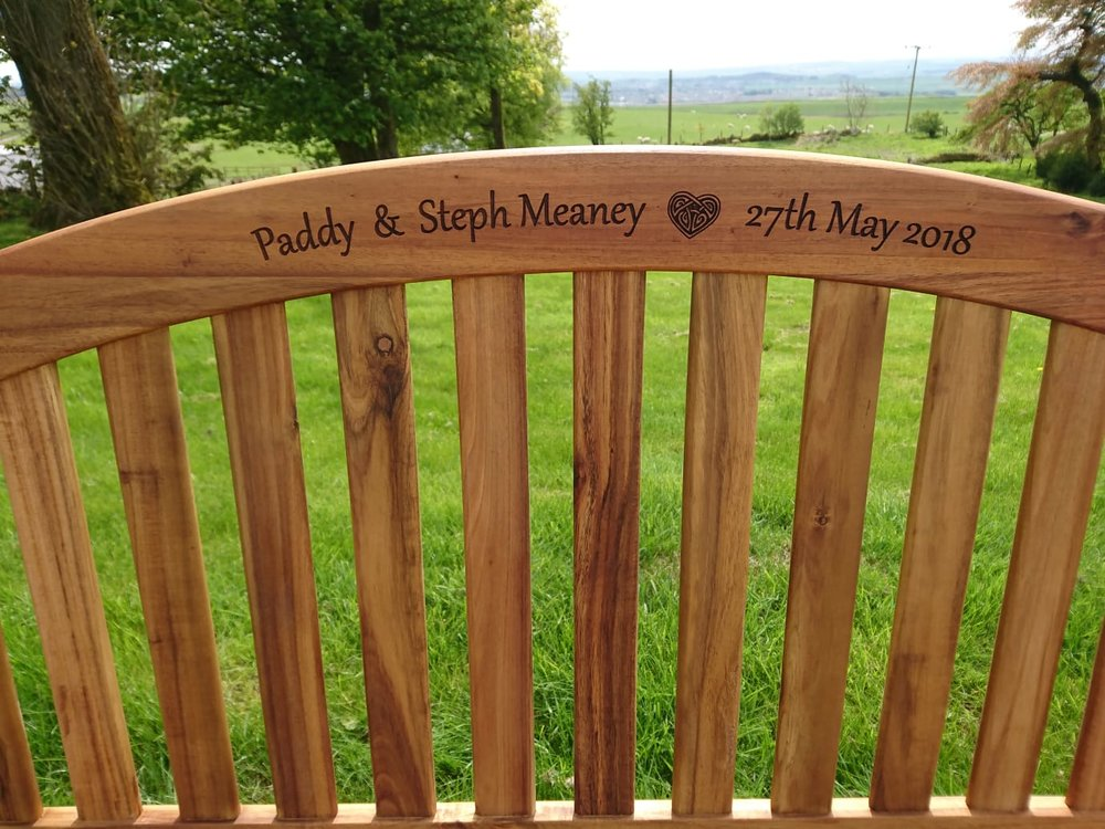 Personalised Wedding Bench