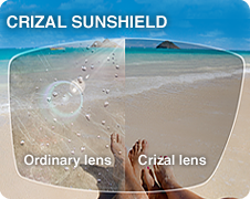 anti-reflective lenses - crizal Sunshield