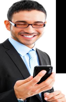 Man on phone wearing glasses