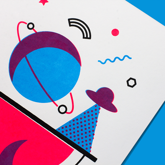 Neon Postcards - Print, illustration
