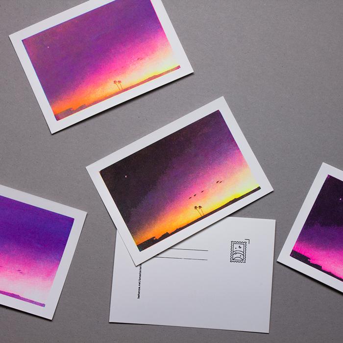 Process-printing Postcards - Print, photography