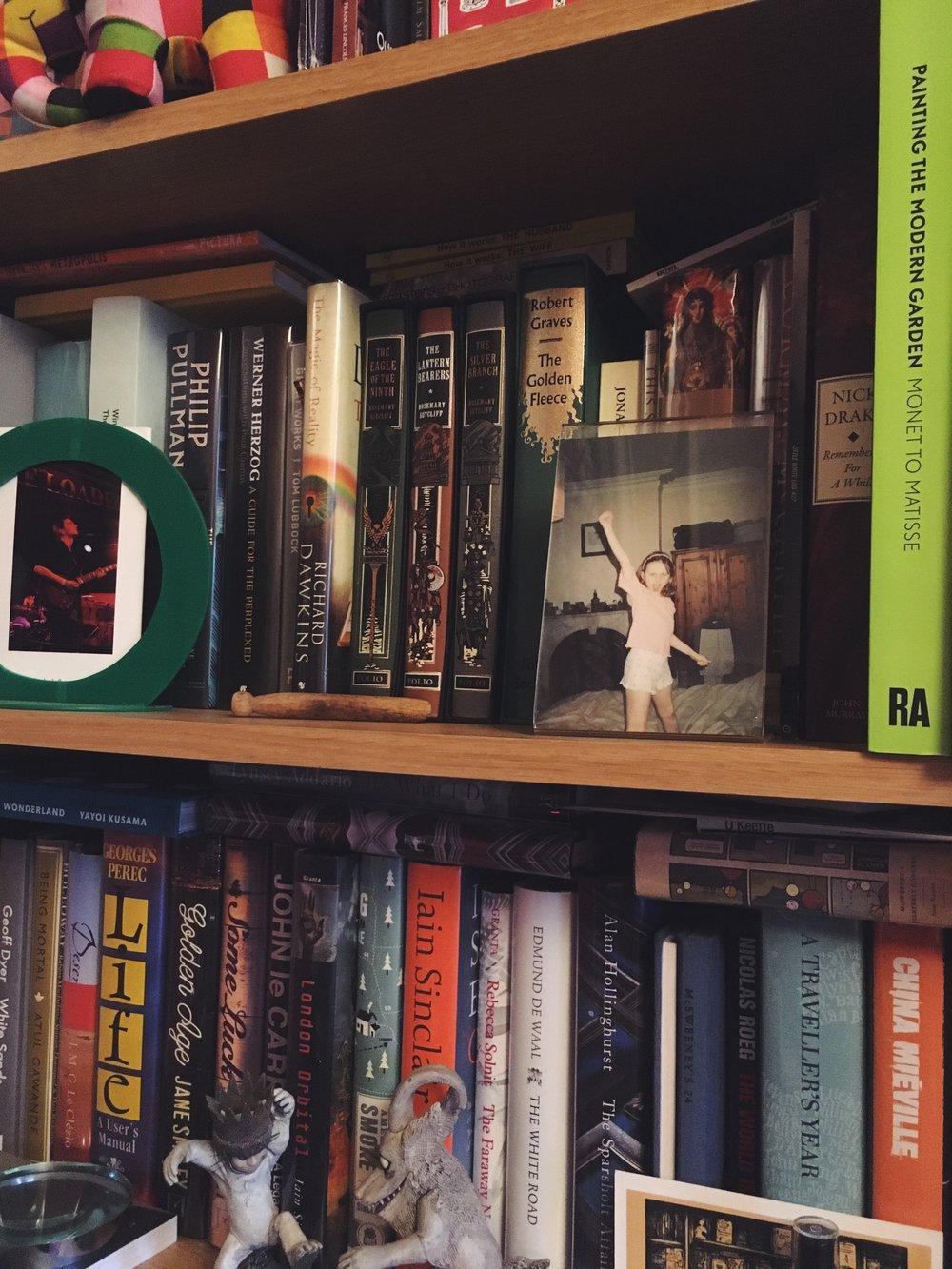 John Newman's bookshelves