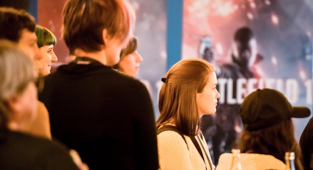 Bilden är tagen på Intro to the Games Industry, en arbetsmarknadsdag för kvinnor