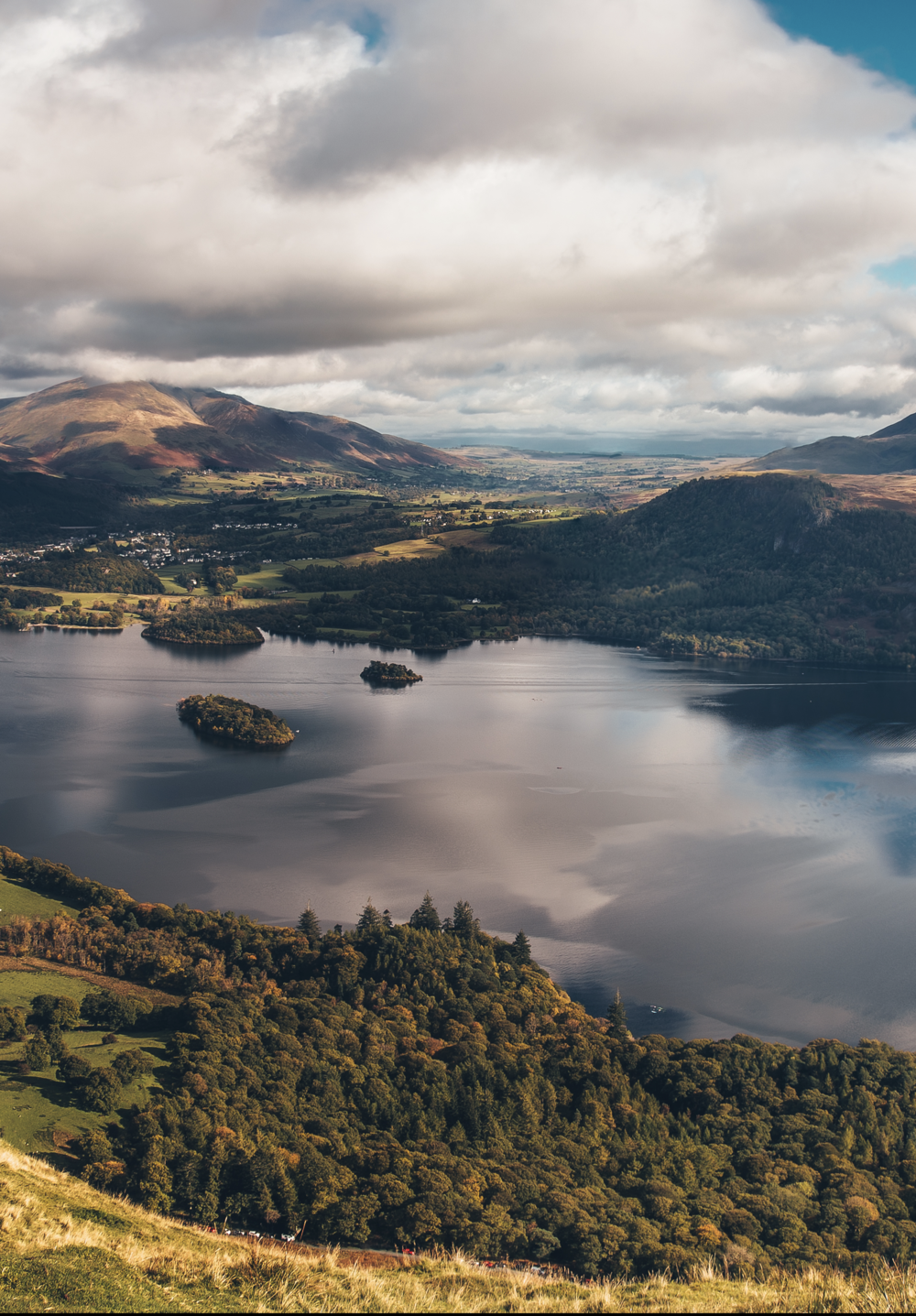 Detail from main panoramic of Derwentwater.