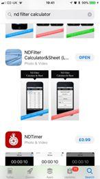 ND Filter Calculator App