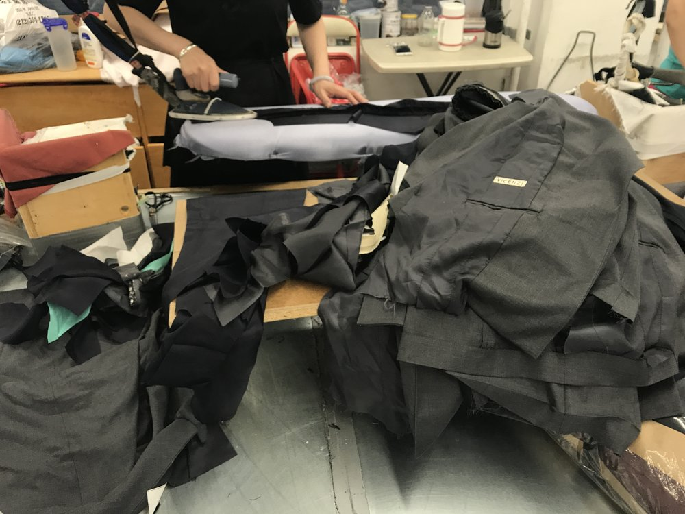 VICENZI blazers are cut, sewn, inspected, and pressed by hand in NYC's historic Garment District.