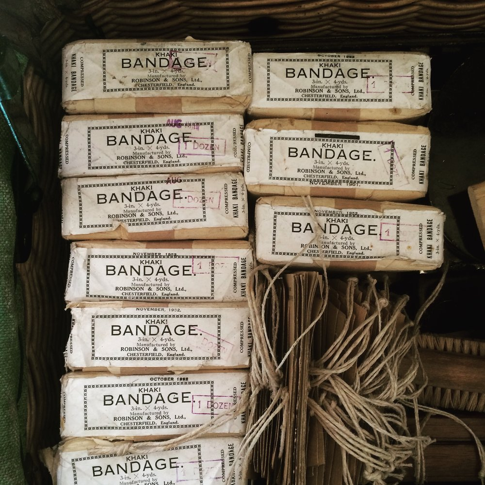 Basket of bandages