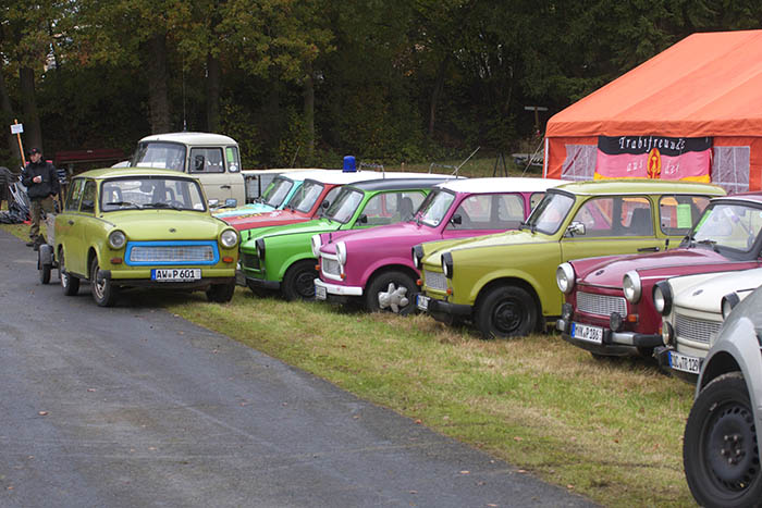 The Trabant - a common sight in the DDR, although a rarity to own.