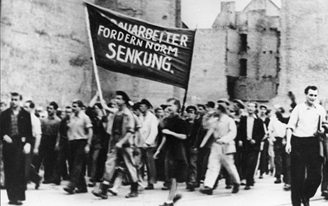 Workers march on Berlin