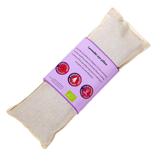Oogkussen lavendel - wit