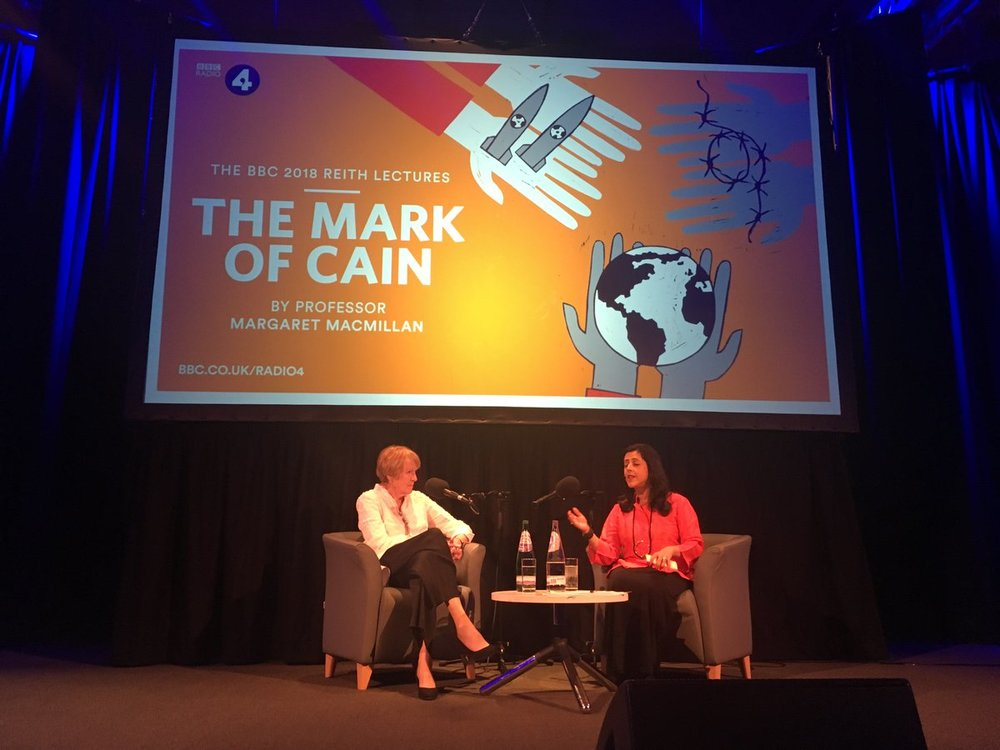 Professor Margaret MacMillan with interviewer  Anita Anand