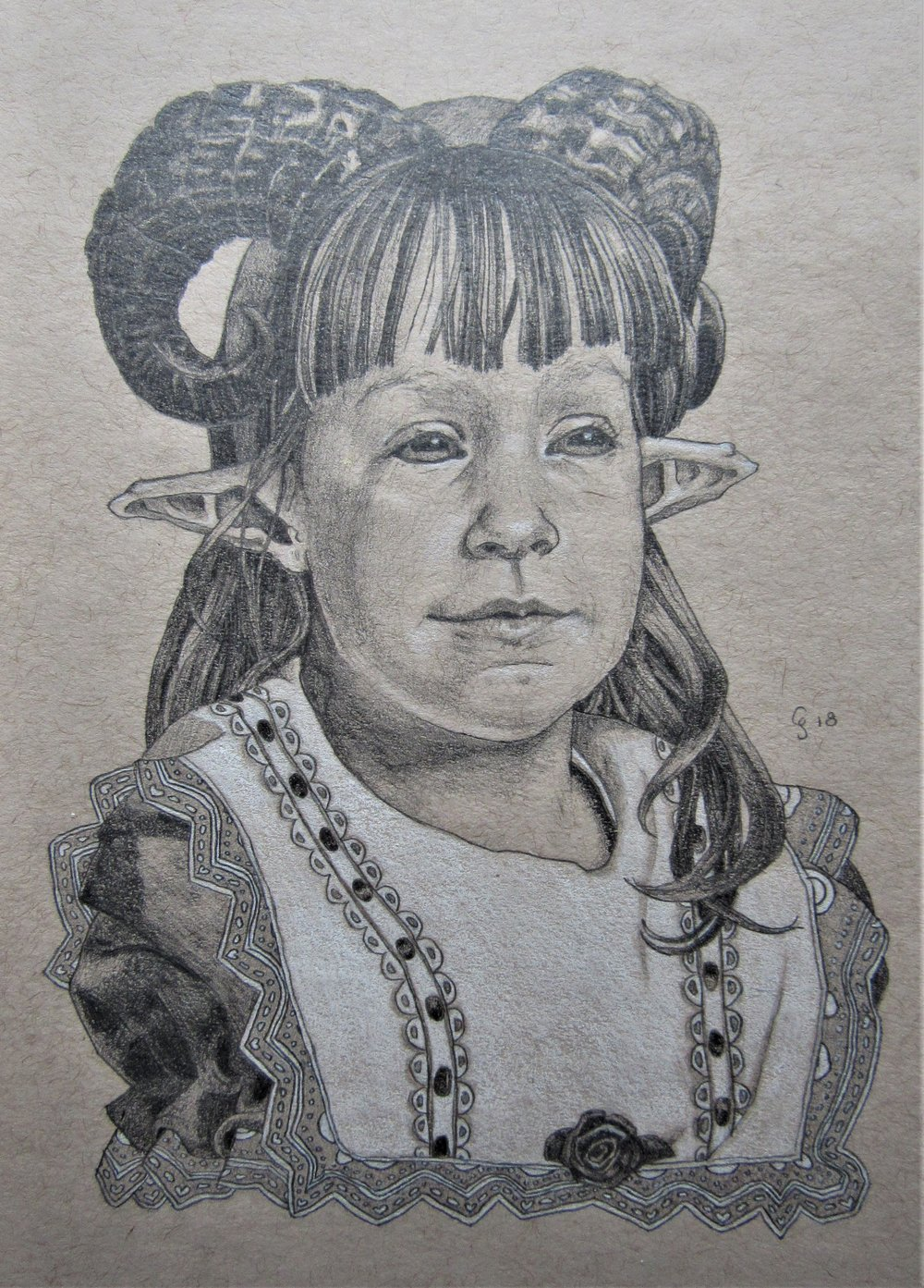 Portrait Study II (Self-Portrait as a Young Ram-Baby)