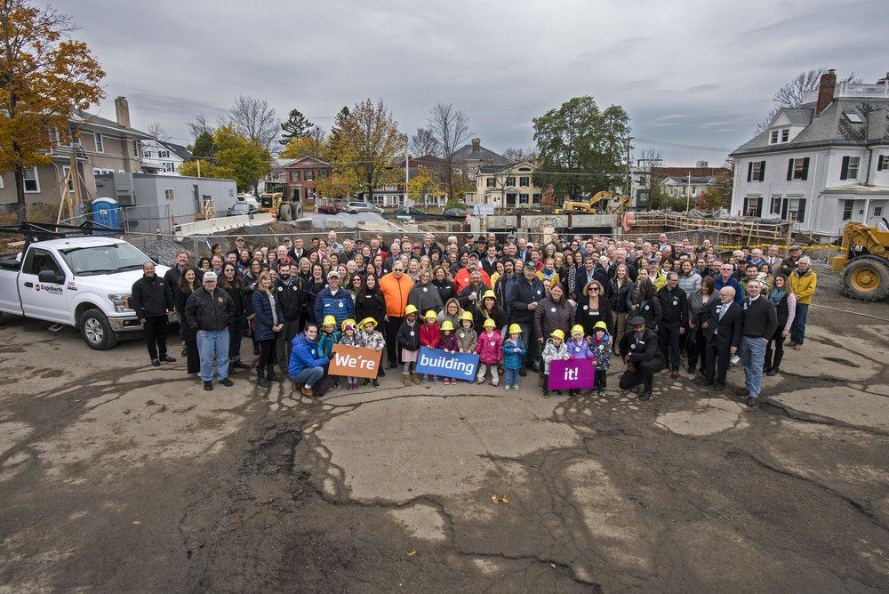 """Community photo at """"ground broke """" ceremony on November 1"""