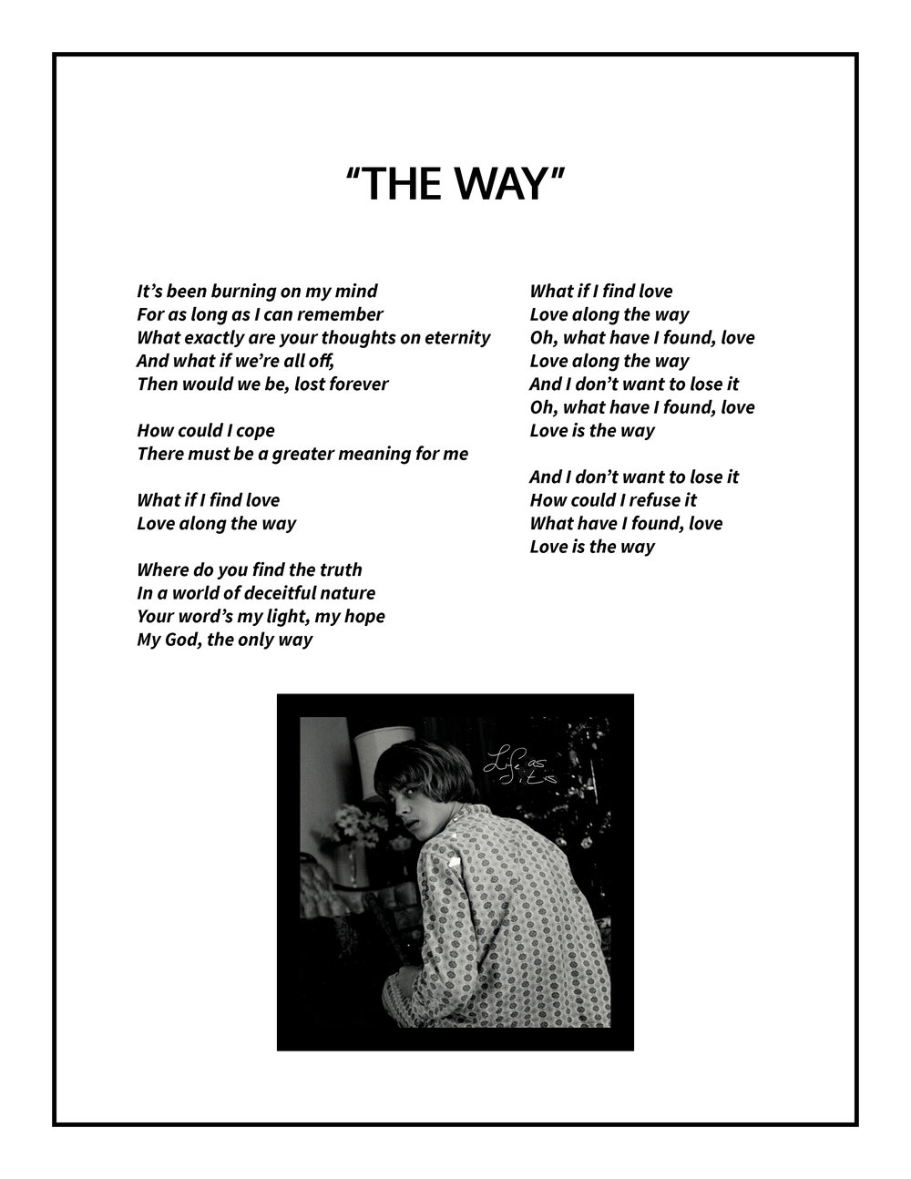 The Way Lyrics