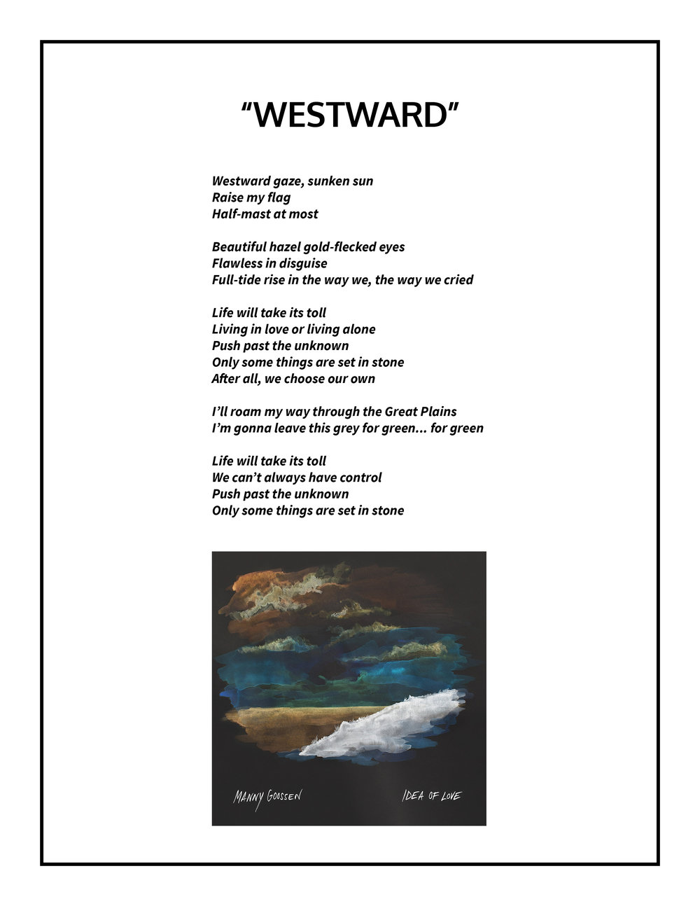 Westward Lyrics
