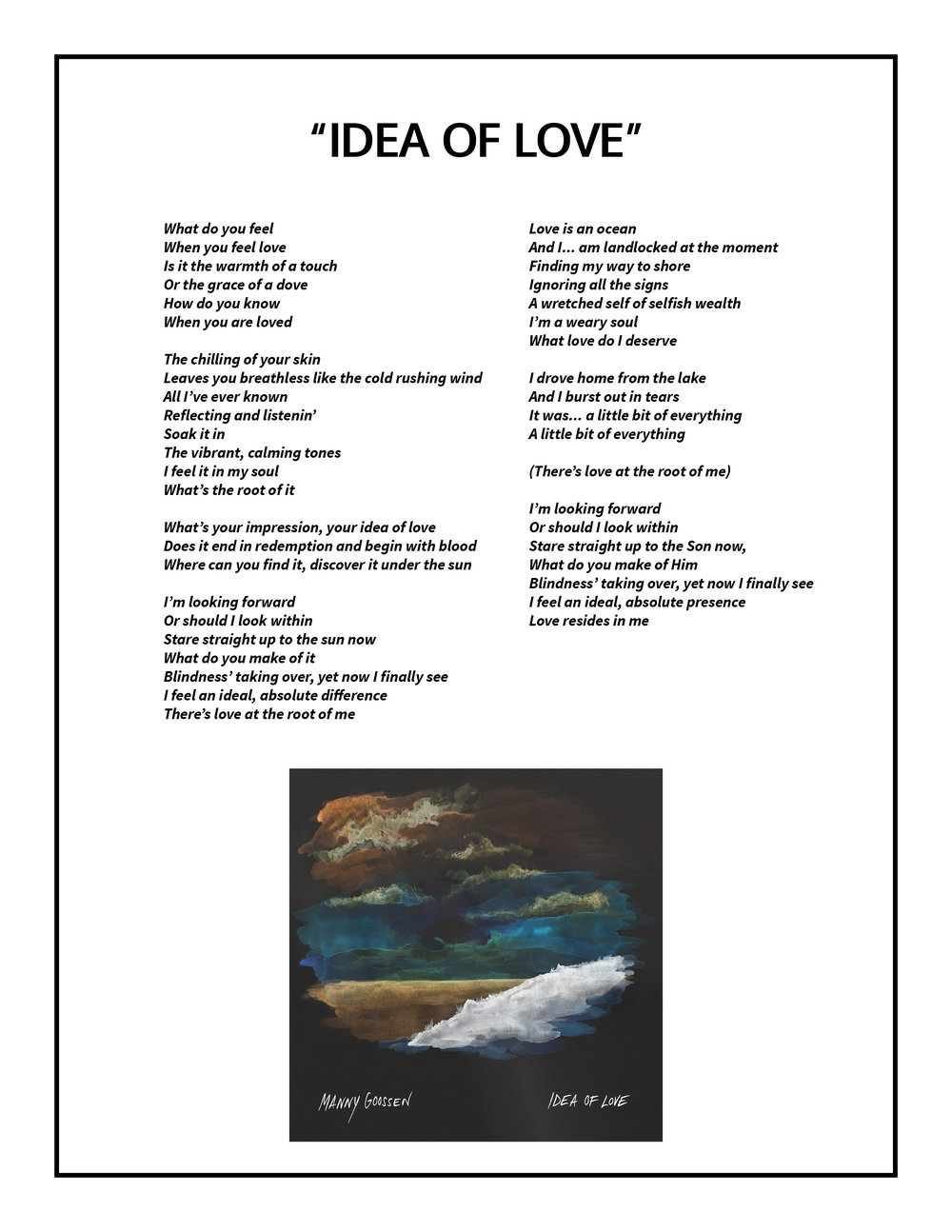 Idea of Love Lyrics