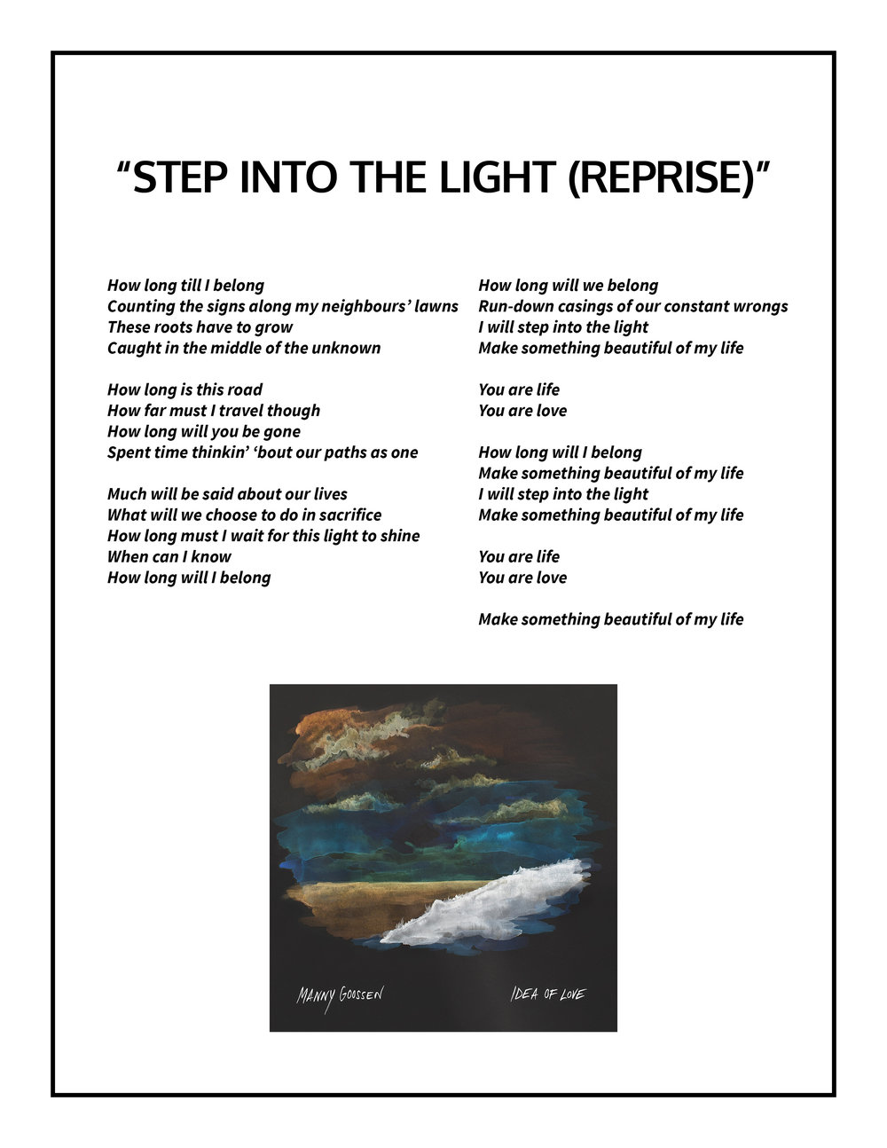 Step Into the Light (Reprise) Lyrics