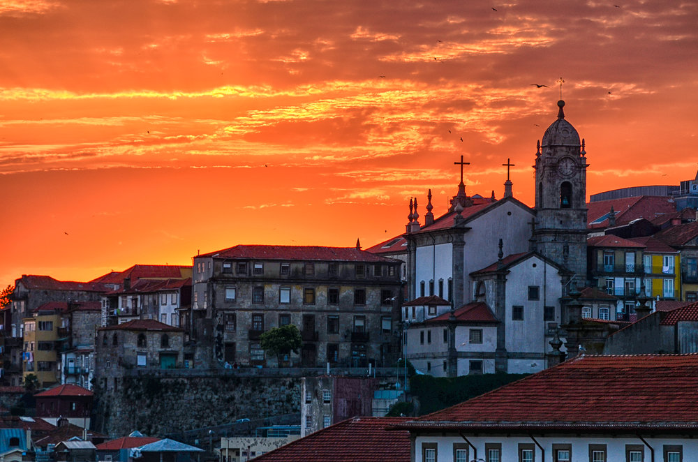 Sunset Over Porto