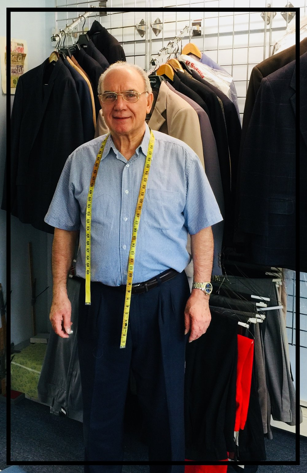 Welcome to our site! - Giuseppe the Tailor has over 40 year experience in the business.  He learned the trade in Italy and brought his expertise back to America and has been in business ever since.
