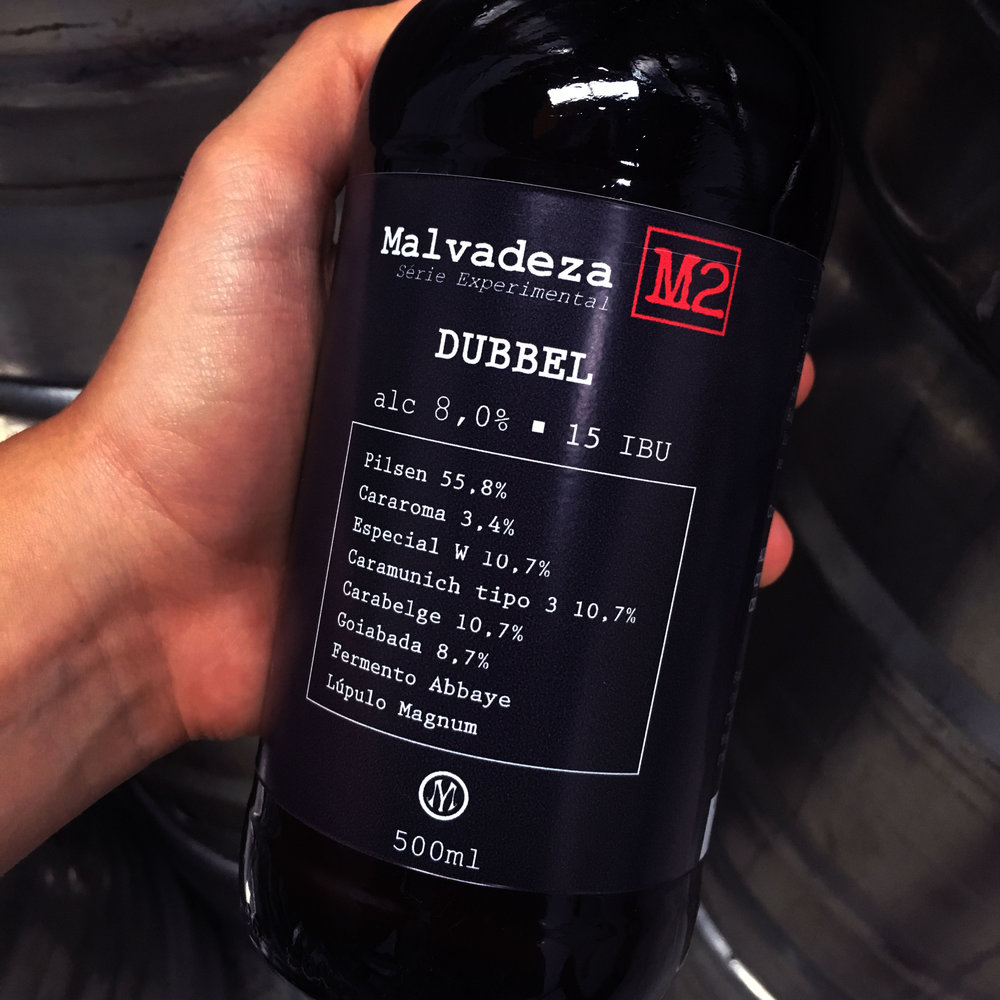 Malvadeza M2 - The second launch of the experimental series has 8% of the alcoholic volume, 15 IBU and 45 EBC. This Dubbel, with high alcohol content, carries a touch of guava juice to complement the palate.Type: Dubbel                                            Percentage of alcohol: 8%                        Bitterness: 15 IBU                                Harmonization: Pork and cheese.
