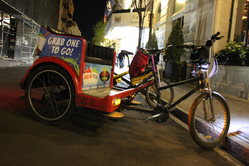 Pedicab and Hotel Monteleone