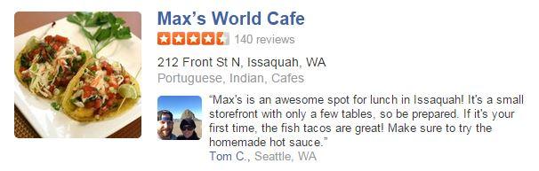 Maxs World Cafe