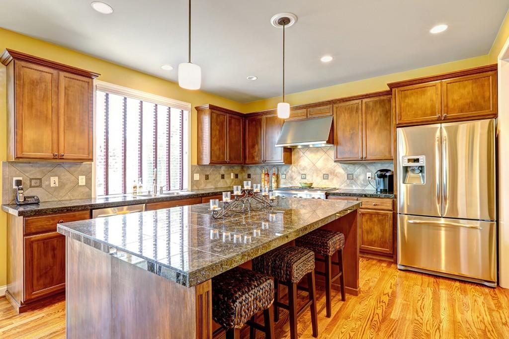 Luxury kitchen room with island