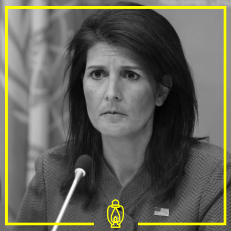 Nikki Halley - Halley is a right-wing Republican politician is the former US ambassador the United Nations and previously served as the governor of South Carolina.