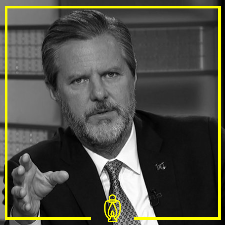 Jerry Fallwell Jr. - Jerry Lamon Falwell Jr. is an American lawyer and university administrator. He serves as the president of Liberty University in Lynchburg, Virginia, appointed in 2007 upon his father's death.