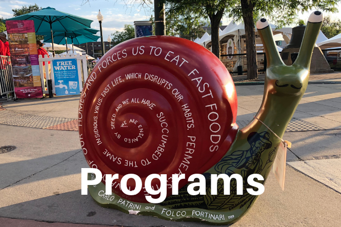 Find out more about Snail of Approval, Chef's Alliance, Youth Programs and much more.