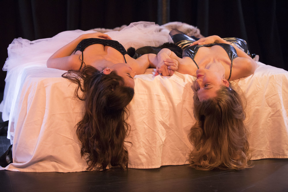 Isabella Alonso and Sarah Brooks in Fine Line directed by Carley Marcelle Madi.
