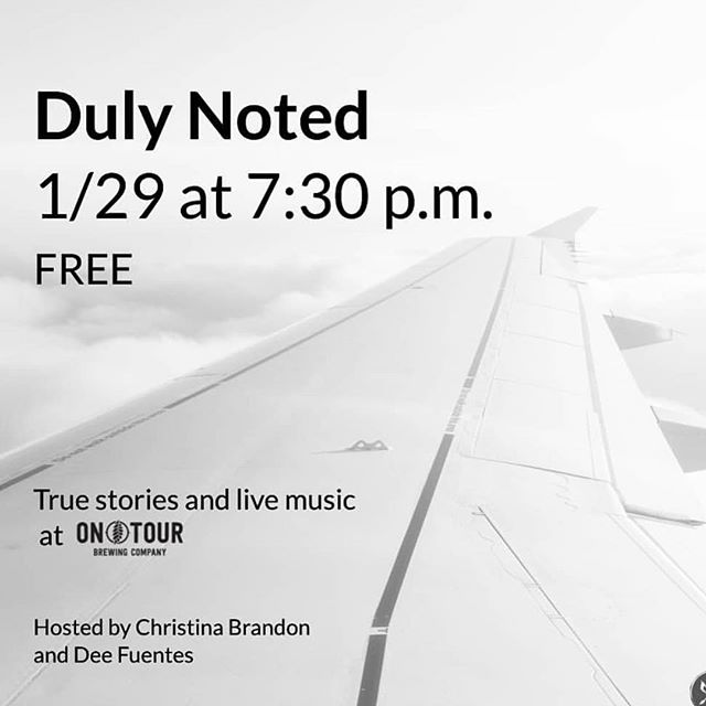 If you're braving the cold tonight and looking for something interesting, come stop by @dulynotedchi @ontourbrewing and grab a beer! Music starts at 7:30 and then I'll be performing with a wonderful group of #chicago #writers. #chicagotonight #chicagoart