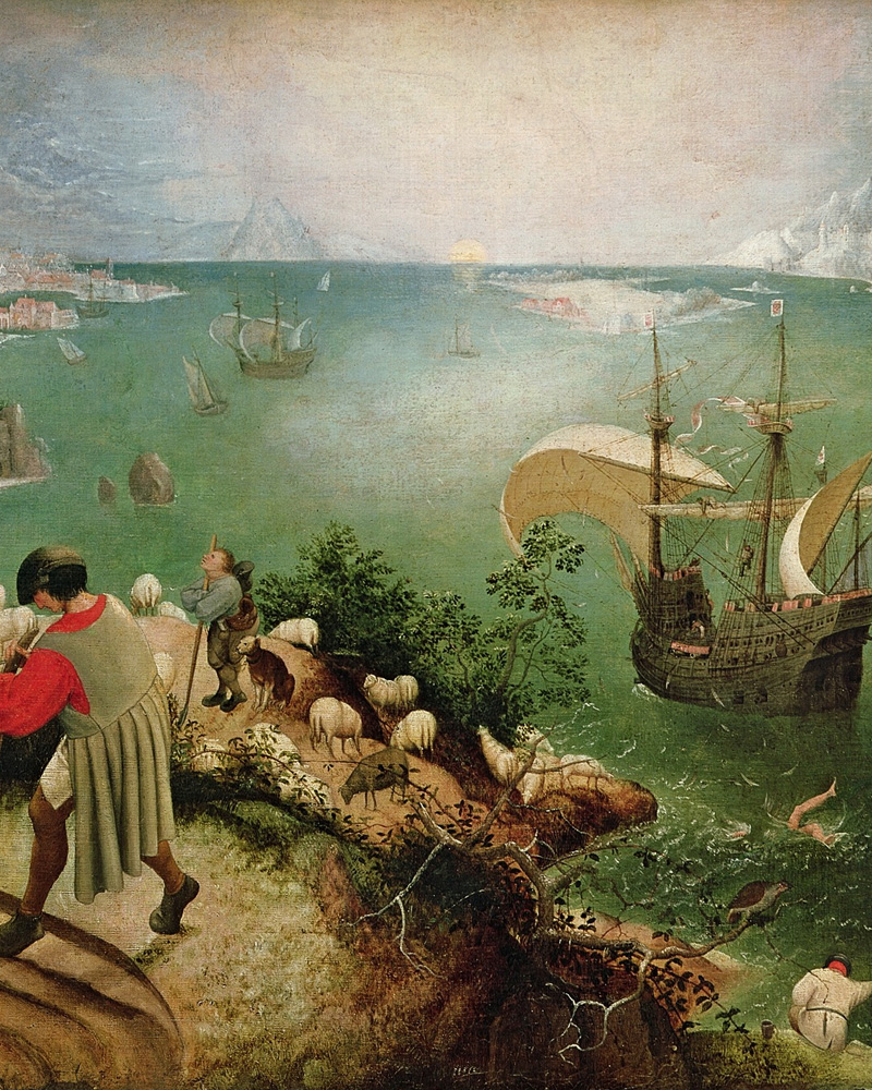 Detail from  Landscape with the Fall of Icarus  Pieter Bruegel the Elder Royal Museums of Fine Arts of Belgium, Brussels, early 1560s