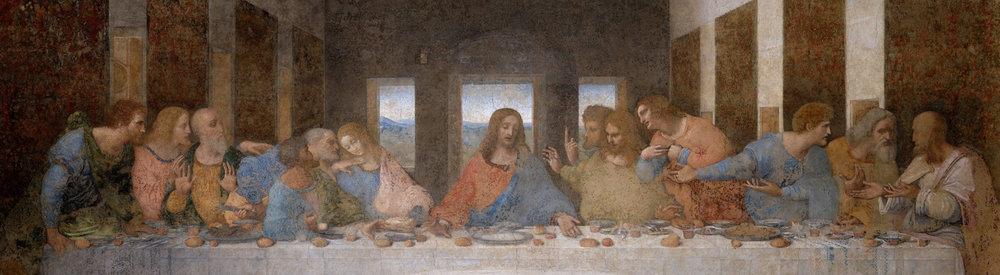 Leonardo da Vinci,  L'Ultima Cena  ( The Last Supper ), ca. 1495-98 (detail), Convent of Santa Maria delle Grazie, Milan