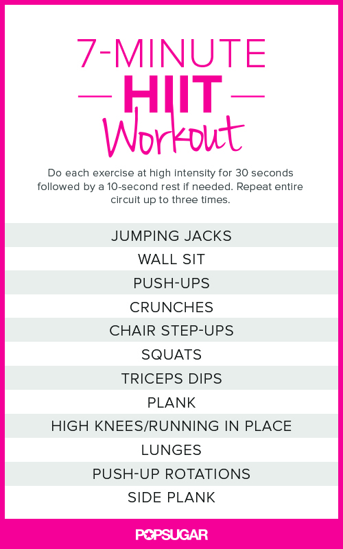 Here's what I'm doing these mornings. If I don't have a chance to get on my mat or out the door later in the day for an hour-long hike. Doing a High-Intensity workout is AWESOME. I can get my heart rate up, get my breath moving and engage almost every part of my body, all before the kids are up and my day gets going.