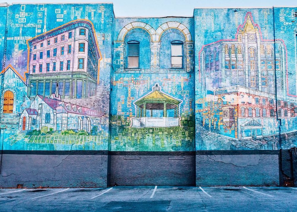 """Rutland City Buildings,"" Persi Navares, 2014, Evelyn Street."