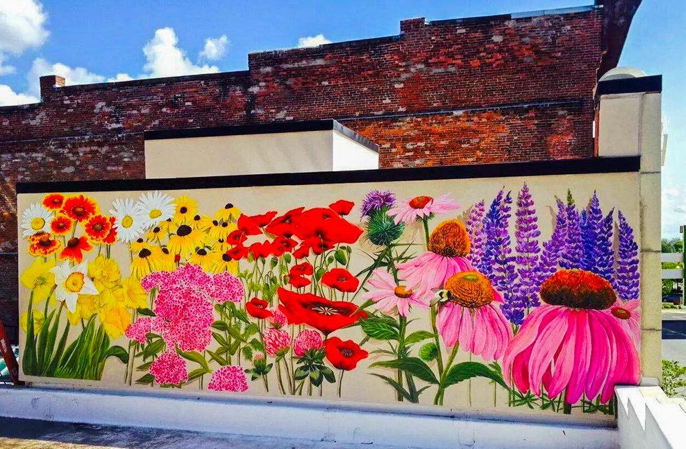 """""""Flowers,"""" Kathryn Palmer-Wiegers, 2014, Merchants Row."""