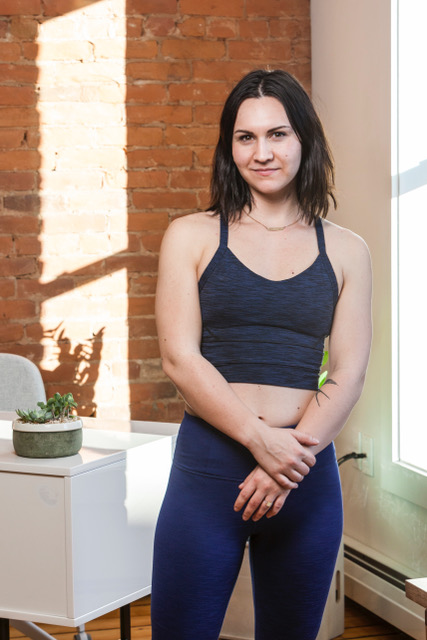 Rebekah Robichaud opened Live Love Yoga at 27 Center Street in January.