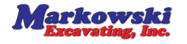 A logo for Markowski Excavating.